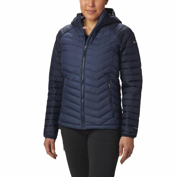 Columbia Powder Lite Hooded Jacket Women Dark Nocturnal S